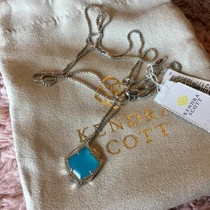 Kendra Scott aqua chalcedony Kacey necklace